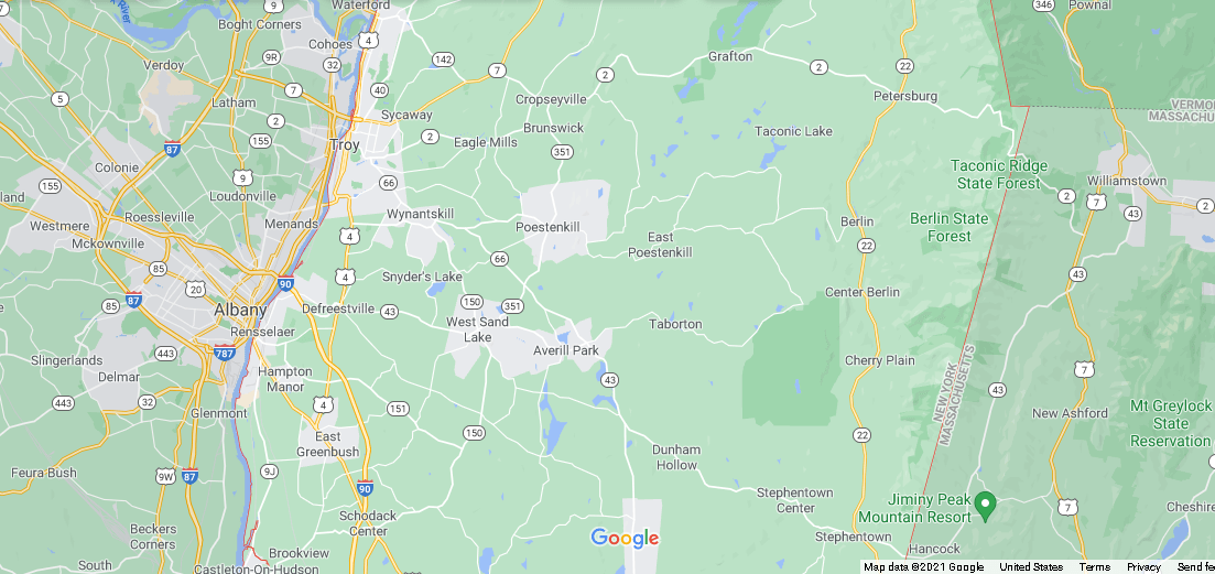 What cities are in Rensselaer County