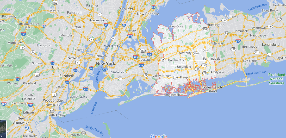Where is Nassau County in NY State
