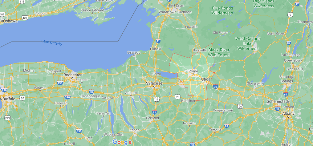 Where is Oneida County in NY State