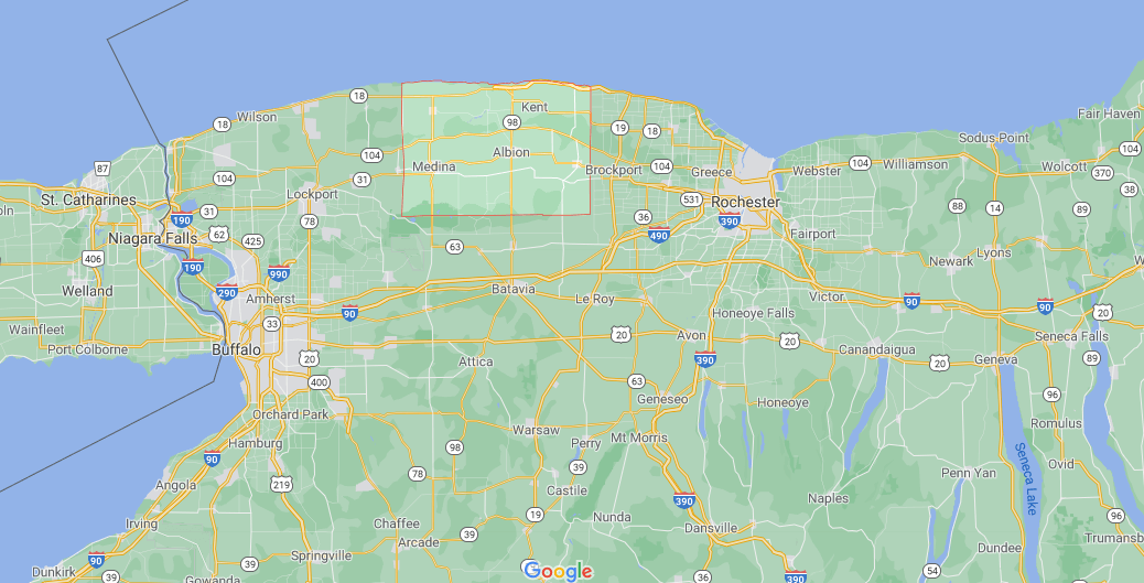 Where is Orleans County in NY State