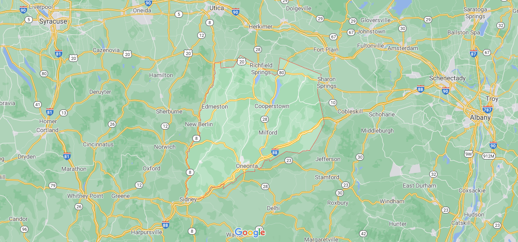Where is Otsego County in NY State