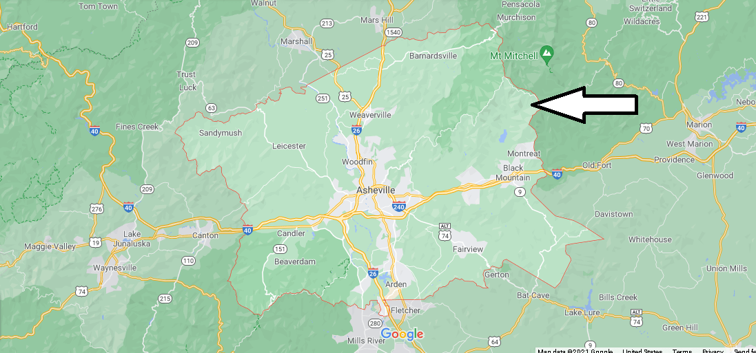 What cities are in Buncombe County
