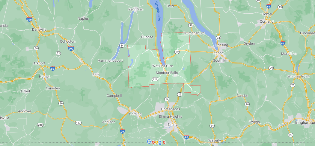 What cities are in Schuyler County