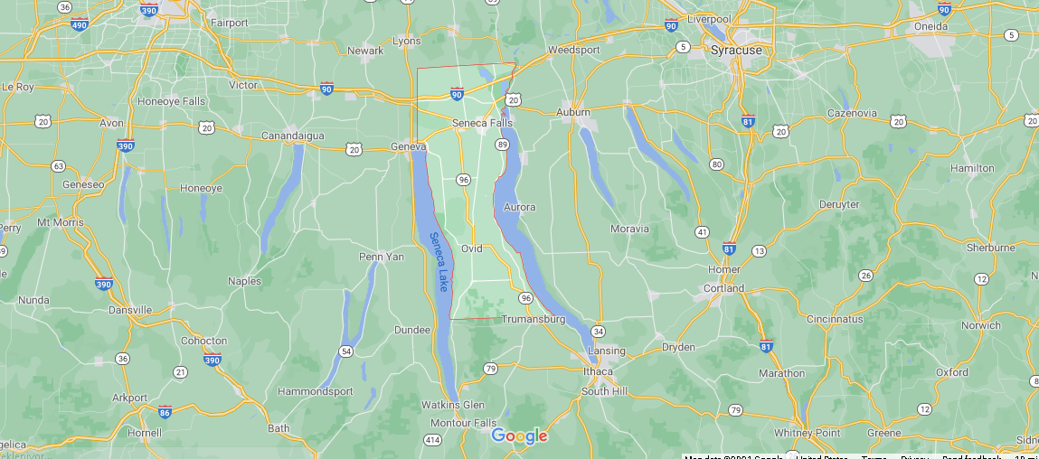 What cities are in Seneca County