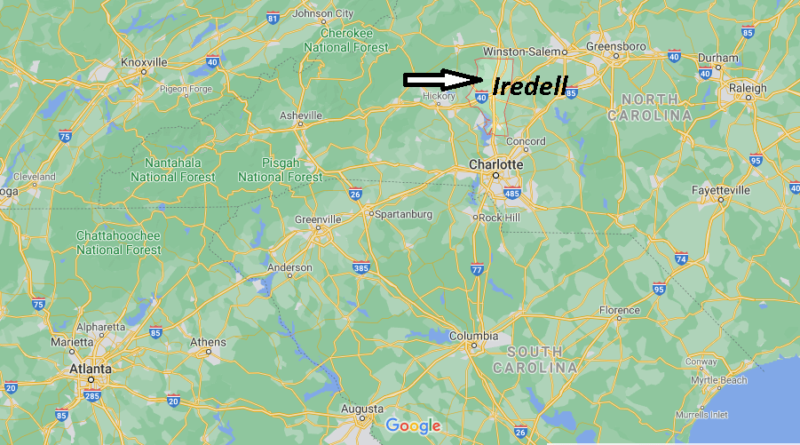 Where is Iredell County North Carolina