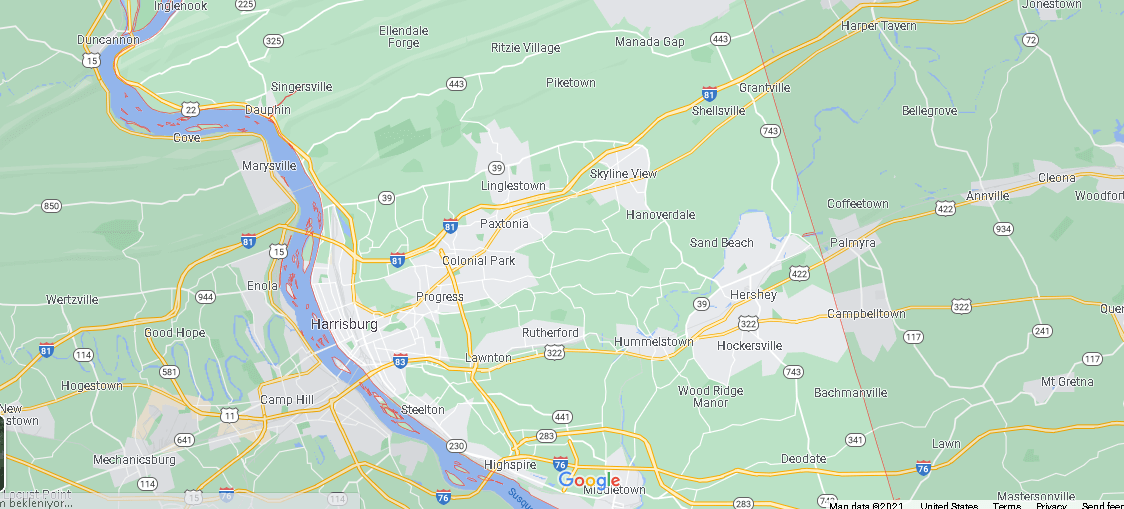 What Cities are in Dauphin County