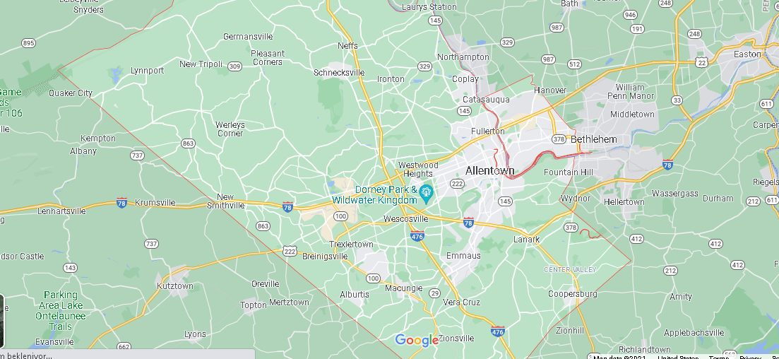 What Cities are in Lehigh County
