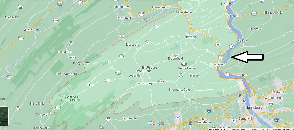 What Cities are in Perry County
