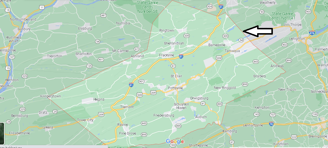 What Cities are in Schuylkill County