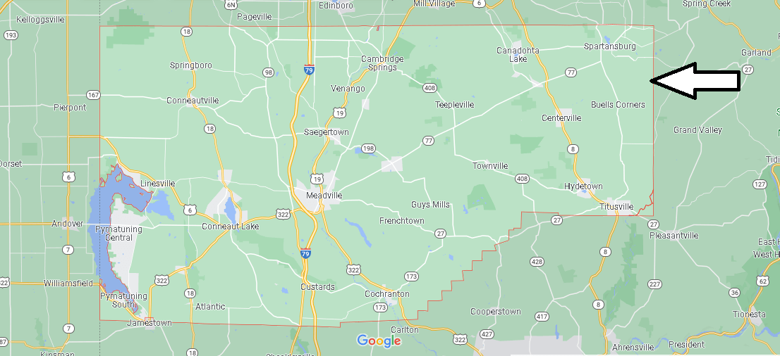 What cities are in Crawford County