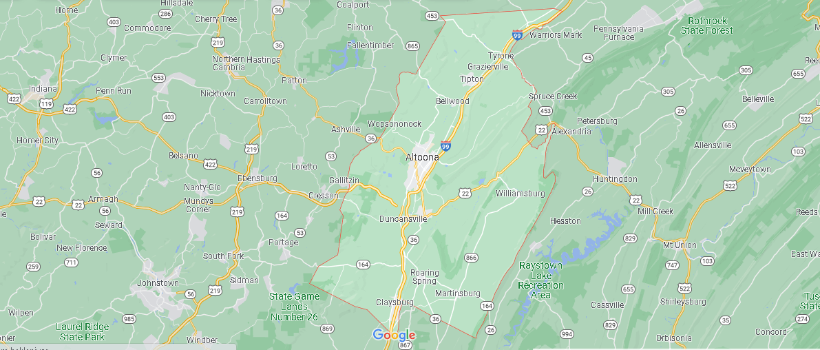 What county is Blair PA in