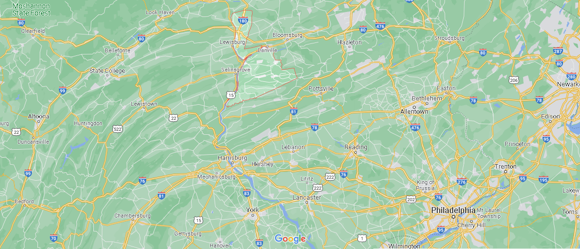 What county is Northumberland Pennsylvania