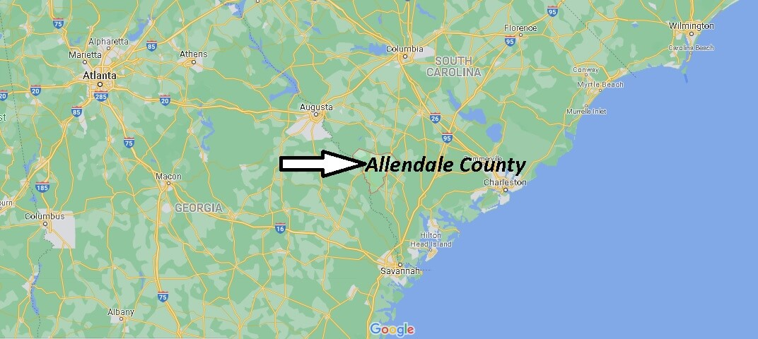 Allendale County Map