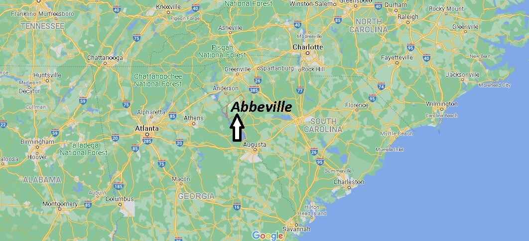 Where is Abbeville County South Carolina