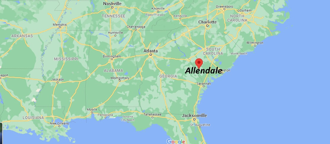 Where is Allendale County South Carolina