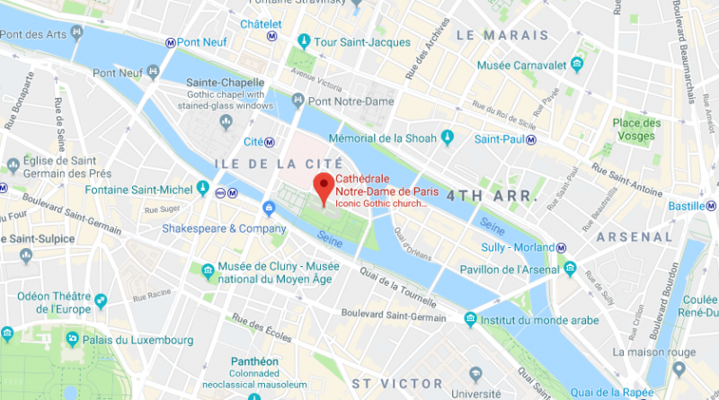 Map of Notre Dame