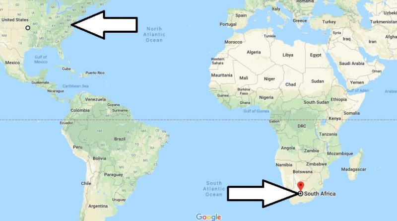 Where is The Republic of South Africa Located On The World