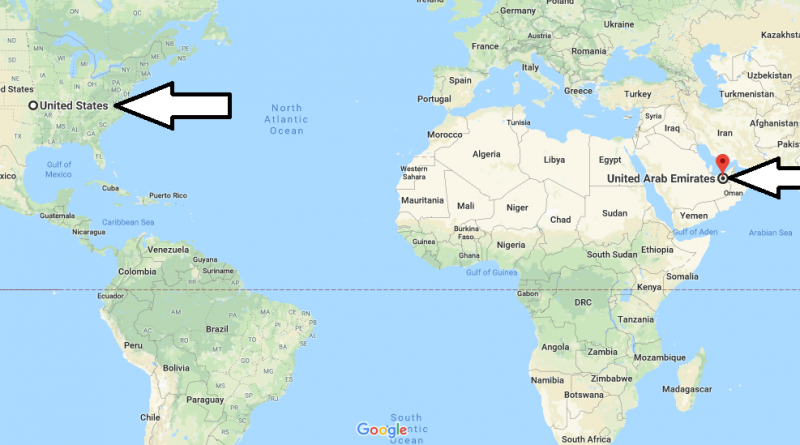 Where is The United Arab Emirates? / Where is The United Arab Emirates Located in The World? / The United Arab Emirates Map