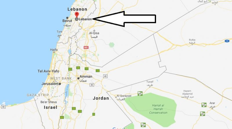 Where Is Lebanon Located In The World Lebanon Map Where Is Map
