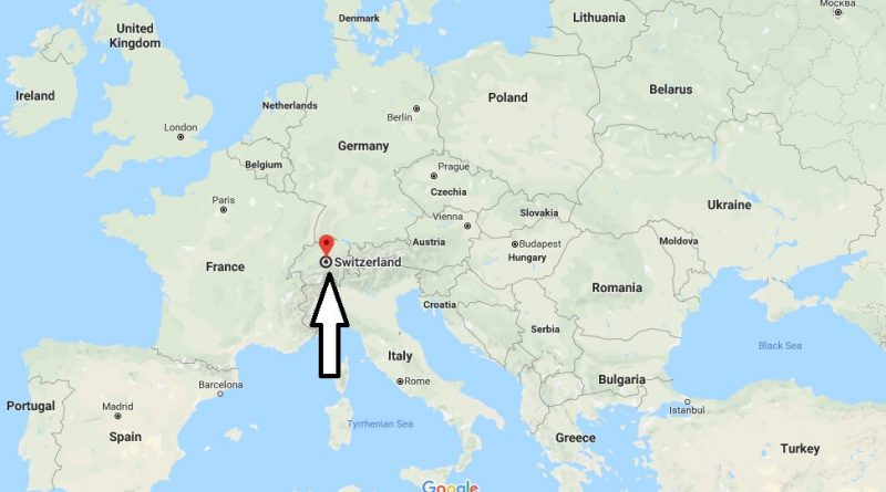 Is Switzerland Located In The World Switzerland Map Where Is Map