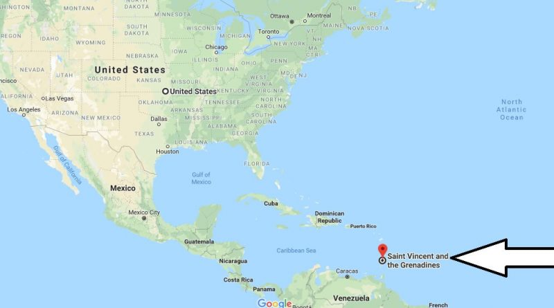 Where, What country and continent is St Vincent and the Grenadines