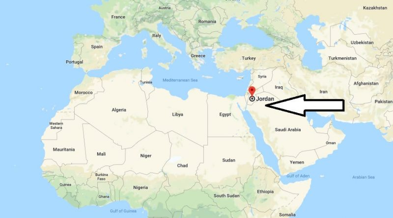 Where is Jordan - Where is Jordan Located in The World - Jordan Map