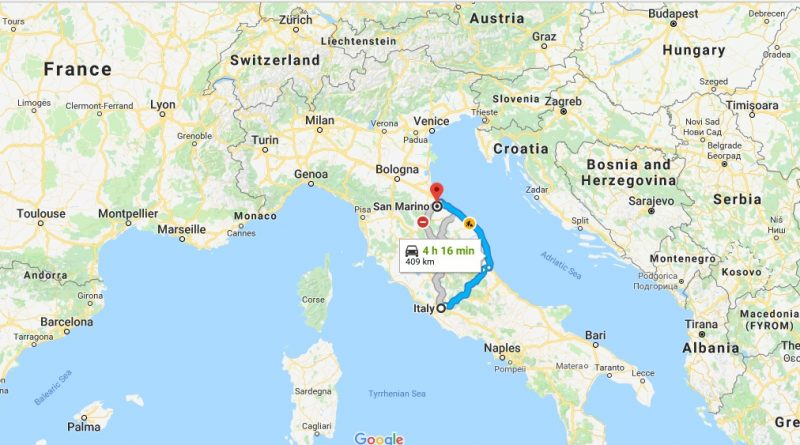 Where is San Marino - Where is San Marino Located in The World - San Marino Map