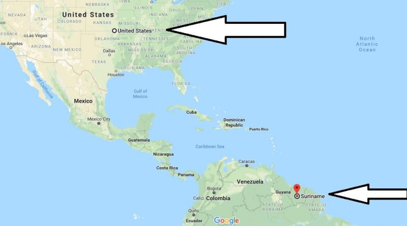 Where is Suriname - Where is Suriname Located in The World - Suriname Map