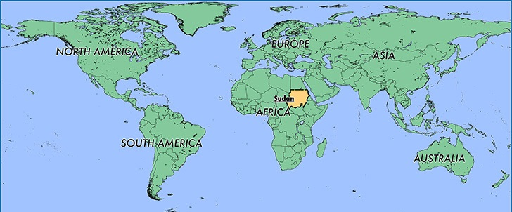 Where is The Sudan - Where is The Sudan Located in The World - The Sudan Map