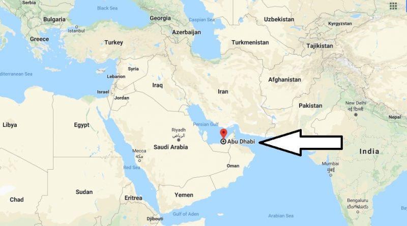 Where is Abu Dhabi - What Country is Abu Dhabi in - Abu Dhabi Map
