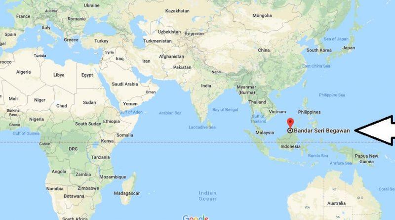 Where is Bandar Seri Begawan - What Country is Bandar Seri Begawan in - Bandar Seri Begawan Map