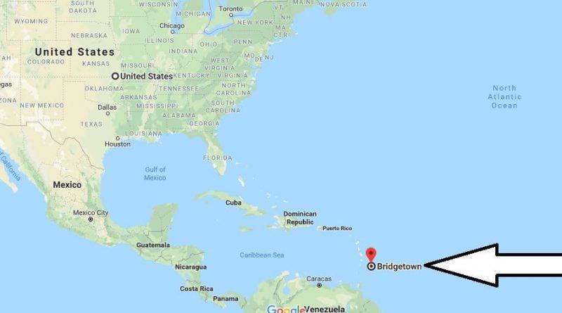 Where is Bridgetown - What Country is Bridgetown in - Bridgetown Map