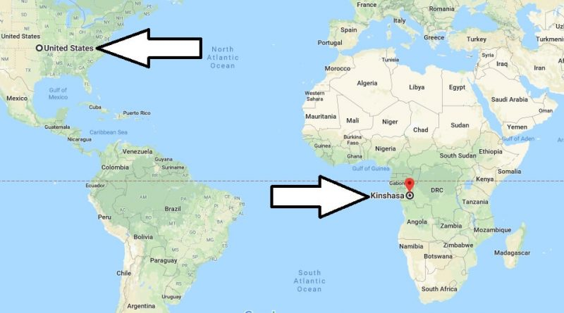 Where is Kinshasa - What Country is Kinshasa in - Kinshasa Map