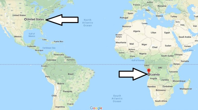 Where is Luanda - What Country is Luanda in - Luanda Map