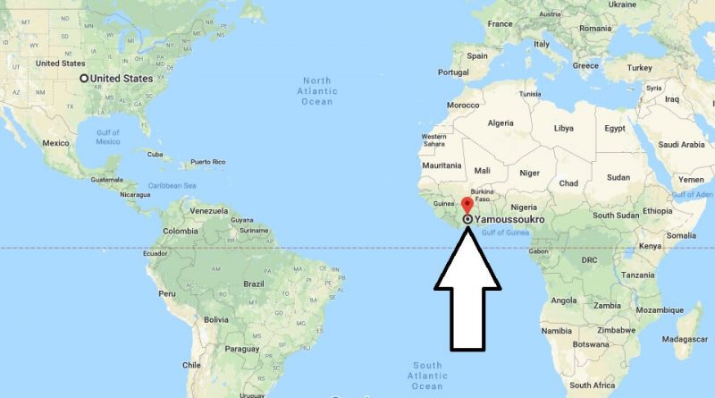 Where is Yamoussoukro - What Country is Yamoussoukro in - Yamoussoukro Map