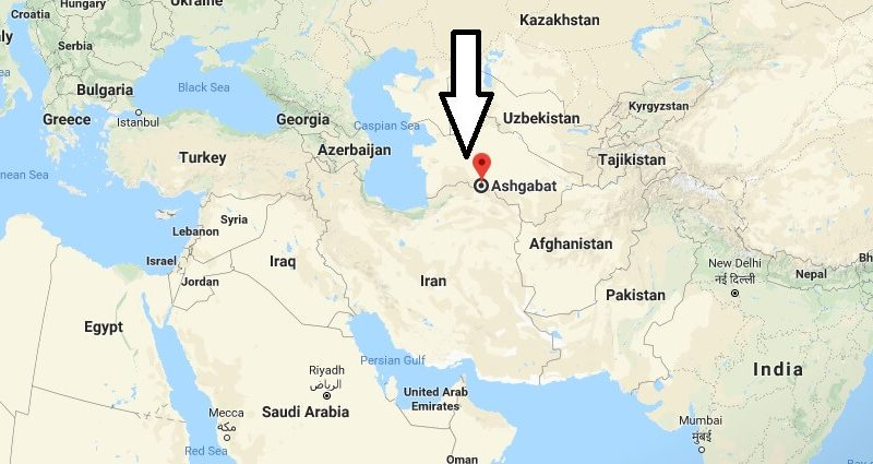 Where is Ashgabat - What Country is Ashgabat in - Ashgabat Map
