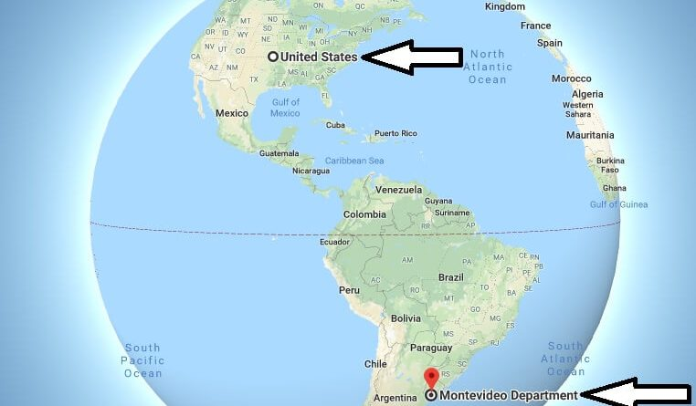 Where is Montevideo - What Country is Montevideo in - Montevideo Map