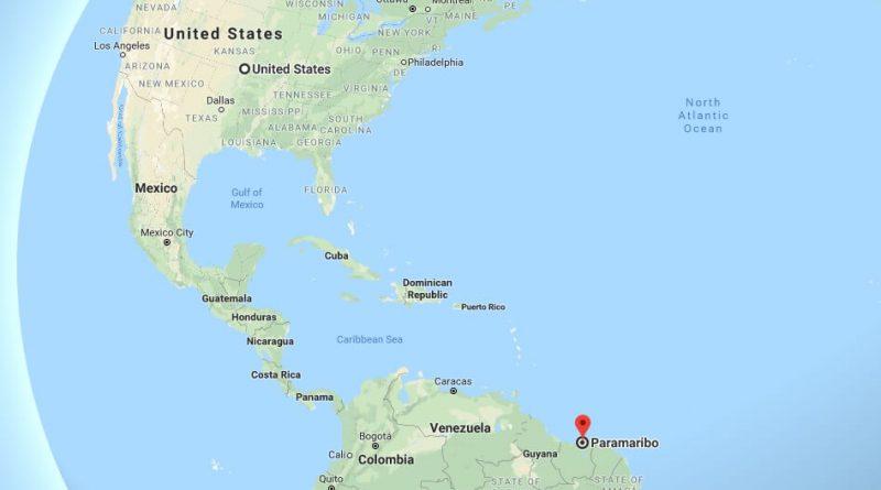 Where is Paramaribo - What Country is Paramaribo in - Paramaribo Map