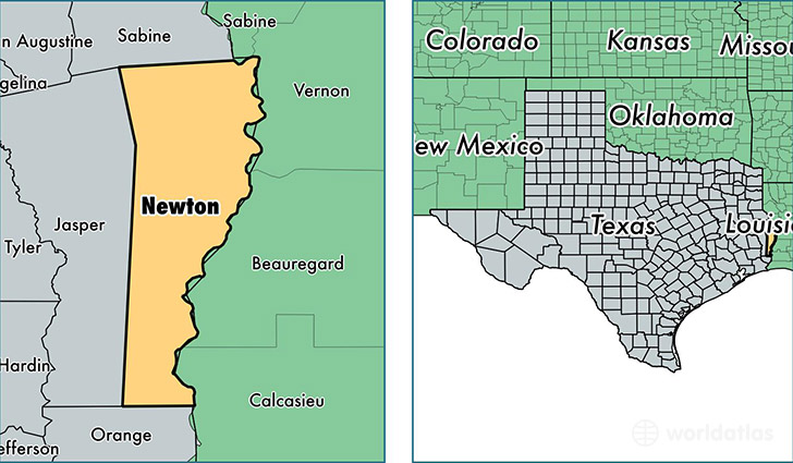 Where is Newton, Texas Located