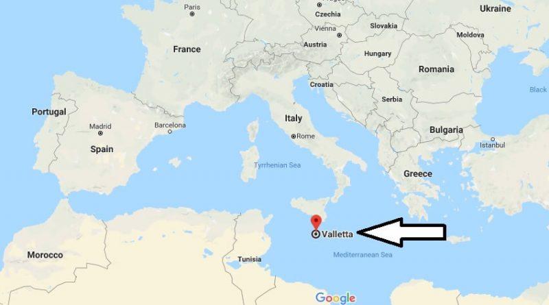 Where is Valletta What Country is Valletta in Valletta Map