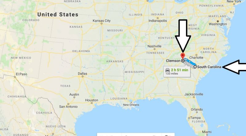 Where is Clemson South Carolina Located Map? What County is Clemson?