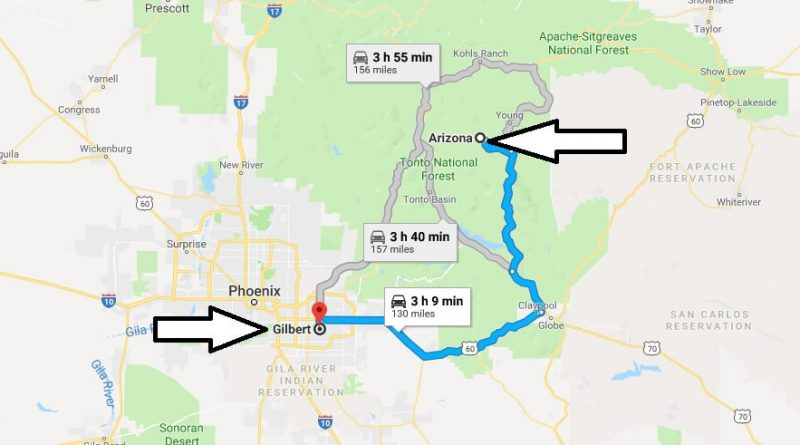 Where is Gilbert Arizona (AZ) Located Map? What County is Gilbert?