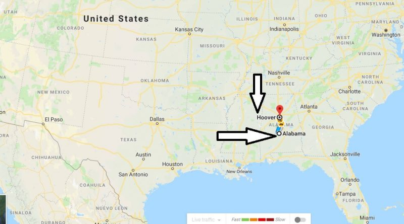 Where is Hoover Alabama (AL) Located Map? What County is Hoover?