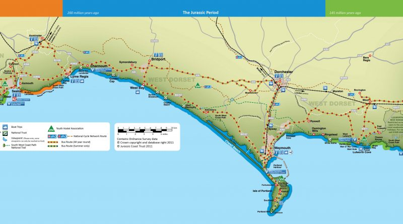 where is the jurassic coast map