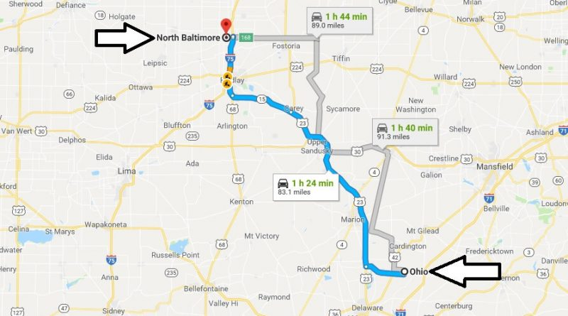 Where is North Baltimore Ohio (OH) Located Map? What County is North Baltimore?