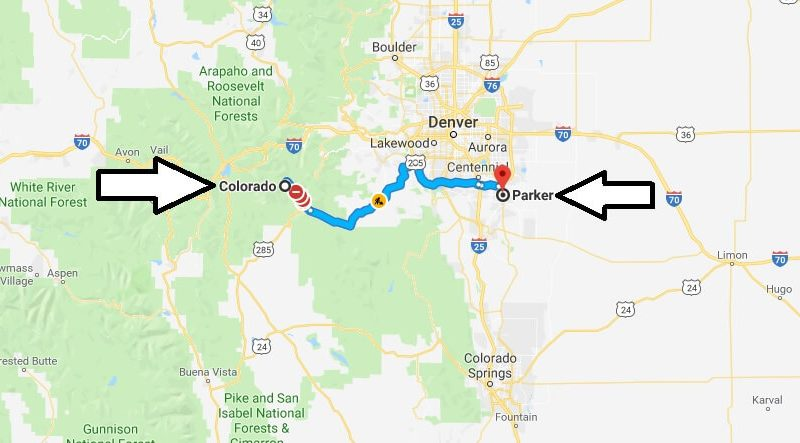 Where is Parker Colorado (CO), Located Map? What County is ...