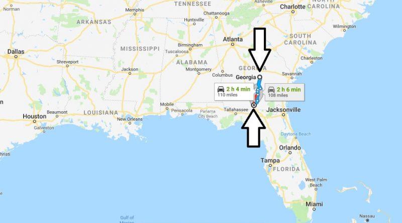 Valdosta Georgia Ga Located Map