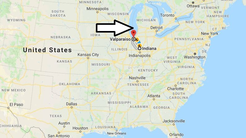 Where is Valparaiso Indiana (IN), Located Map? What County is Valparaiso?