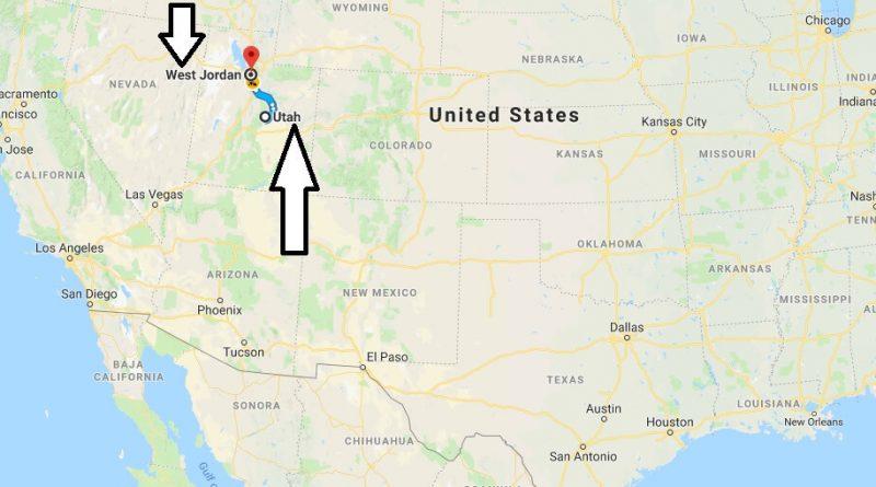 Where is West Jordan Utah (UT), Located Map? What County is West Jordan?