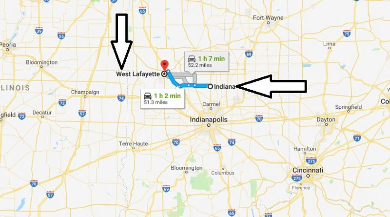 Where is West Lafayette Indiana (IN), Located Map? What County is West Lafayette?